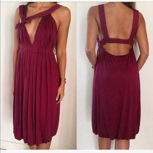 MaxMara Pianoforte Purple Bow Asymmetrical Dress